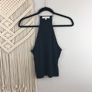 Truly Madly Deeply black halter tank size XS